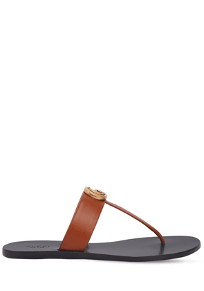 10mm Marmont Leather Thong Sandals