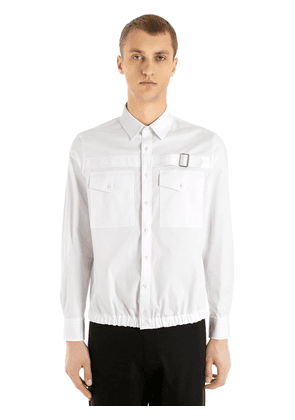 Cotton Shirt W/ Buckle Detail