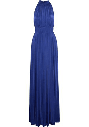 Catherine Deane Woman James Gathered Satin-jersey Gown Bright Blue Size 12