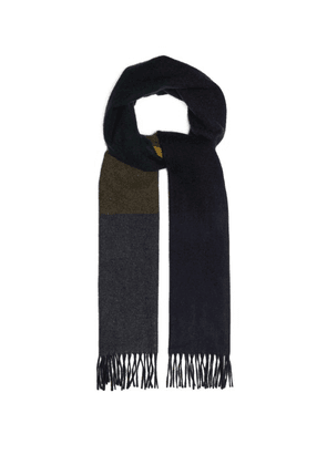 Begg & Co. - Vigo Striped Wool And Cashmere Blend Scarf - Mens - Grey Multi