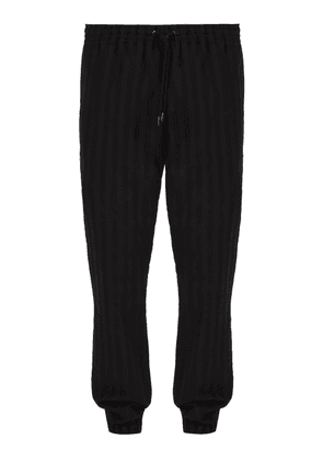 Saint Laurent - Striped Wool Track Pants - Mens - Black
