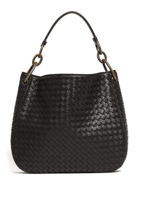 605c755824 Bottega Veneta - Loop Small Intrecciato Leather Shoulder Bag - Womens -  Black