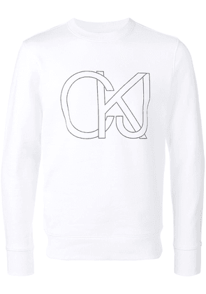 Ck Jeans new logo sweater - White