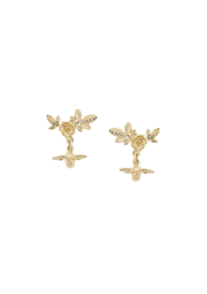 Alex Monroe Floral Cluster Stud Earrings - Gold