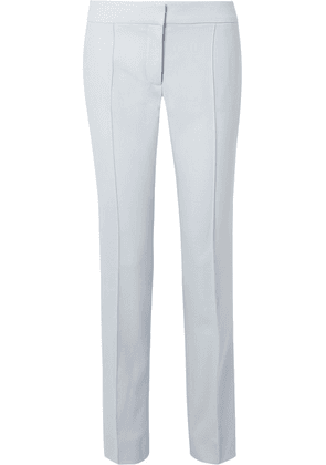 Stella McCartney - Anna Pleated Wool-piqué Straight-leg Pants - Sky blue