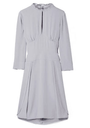 Prada - Plissé-trimmed Crepe Dress - Lilac