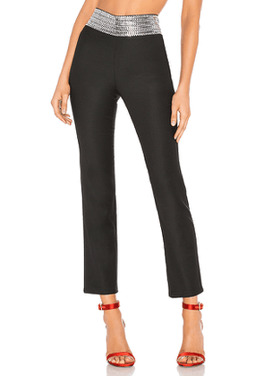 Adam Selman Sandy Pant with Hearts in Black. Size 0,8.