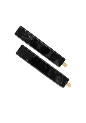 France Luxe Mod Bobby Pin Pair in Black.
