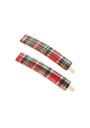 France Luxe Mod Bobby Pin Pair in Red.