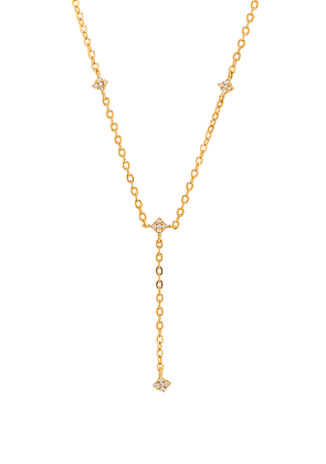 ERTH Shimmering Star Lariat in Metallic Gold.