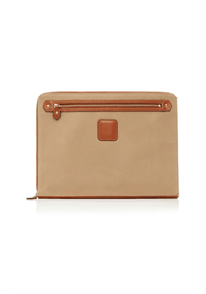 Ghurka 15' Leather-Trimmed Twill Laptop Sleeve
