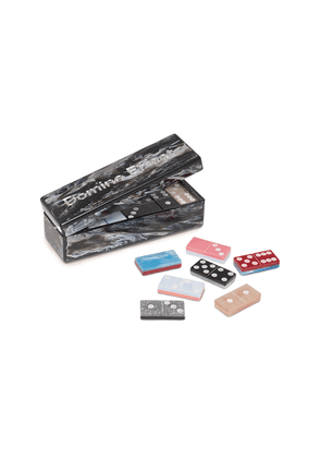 Edie Parker Marbled Acrylic Domino Box
