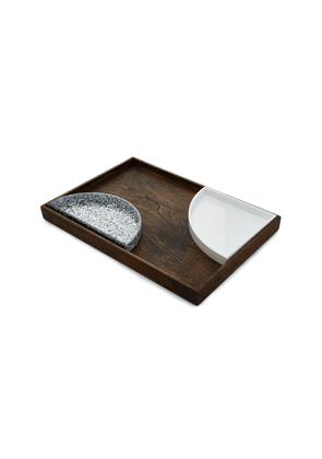 Edie Parker Wooden And Acrylic Tray