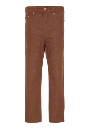 AMI Brown Five-Pocket Jean