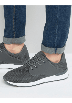 Brave Soul Breckham Trainers In Grey
