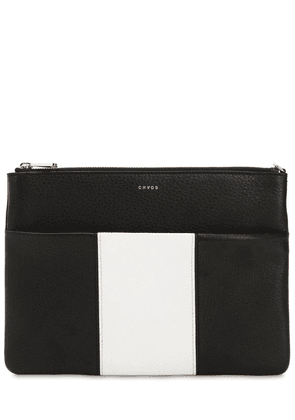 Bicolor Leather Pouch