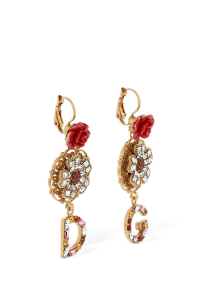 Crystal & Roses D&g Earrings