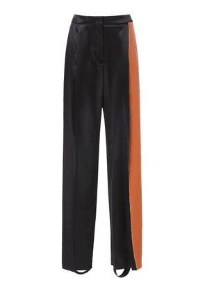 Loewe High-Rise Satin Straight-Leg Trousers