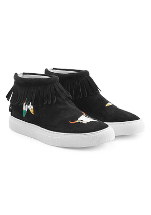 Joshua Sanders Embroidered Suede Sneakers
