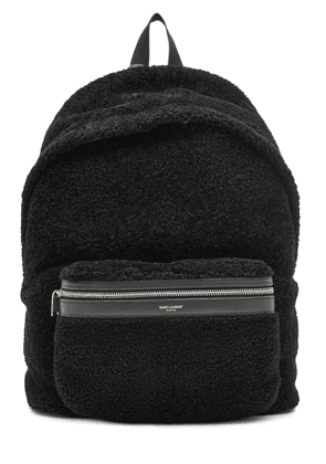 Saint Laurent Leather and Shearling Backpack