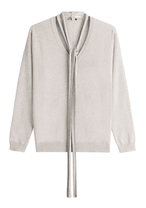 Brunello Cucinelli Cashmere Pullover with Embellished Scarf