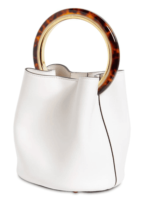 Small Pannier Leather Bucket Bag