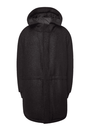 Raf Simons Down Parka with Virgin Wool and Mohair