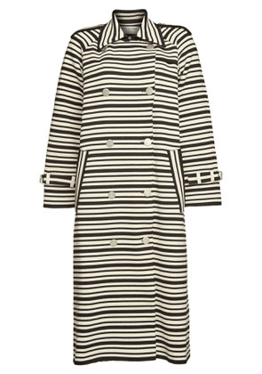 Sonia Rykiel Striped Trench Coat with Cotton
