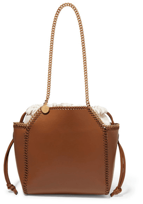 Stella McCartney - The Falabella Reversible Faux Leather Tote - Tan