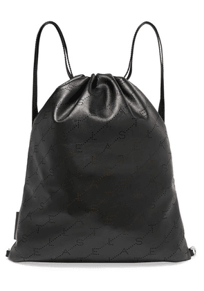 Stella McCartney - Perforated Faux Leather Backpack - Black