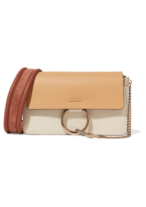 Chloé - Faye Small Leather And Suede Shoulder Bag - Ivory