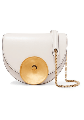 Marni - Monile Small Leather Shoulder Bag - White