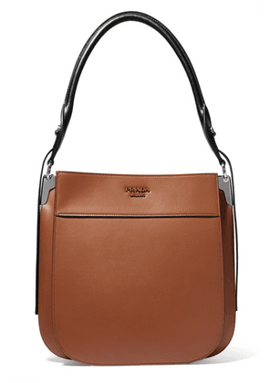 Prada - Margit Two-tone Leather Shoulder Bag - Brown