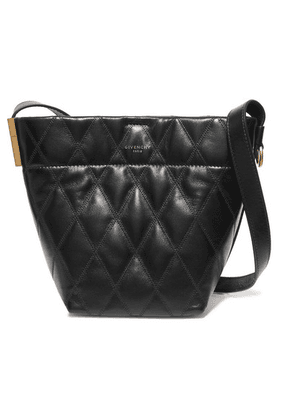 Givenchy - Gv Mini Quilted Leather Bucket Bag - Black