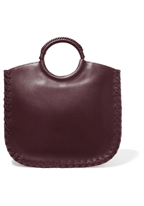 Ulla Johnson - Amaia Whipstitched Leather Tote - Burgundy