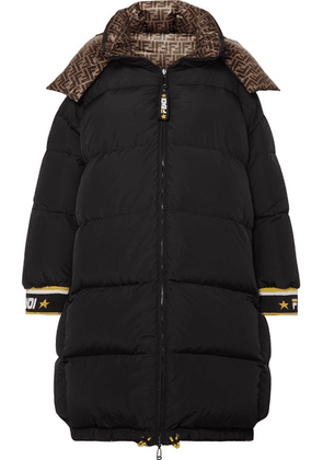 Fendi - Reversible Printed Quilted Shell Down Jacket - Black