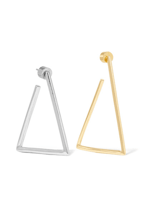 Jennifer Fisher - Triangle Silver And Gold-plated Earrings - one size