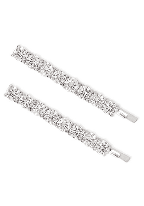 Kenneth Jay Lane - Silver-tone Crystal Hair Slides - one size