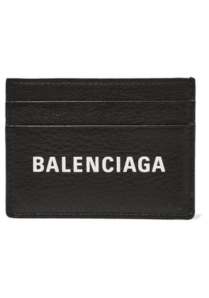 Balenciaga - Everyday Printed Textured-leather Cardholder - Black