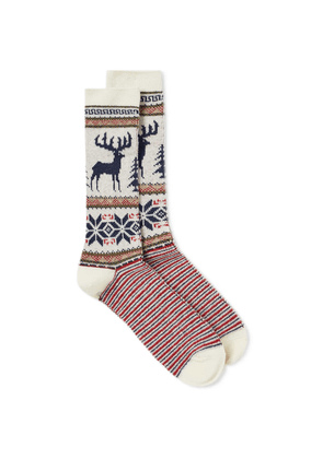 Anonymous Ism Deer Snow Socks Off White