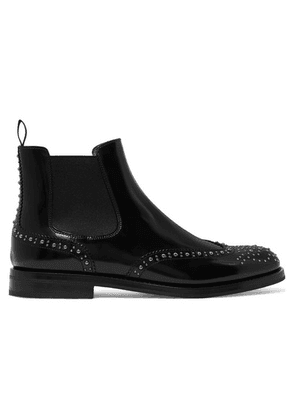 Church's - Ketsby Met Studded Glossed-leather Chelsea Boots - Black