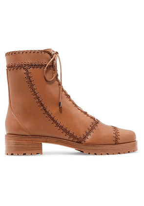 Alexandre Birman - Whipstitched Leather Ankle Boots - Tan