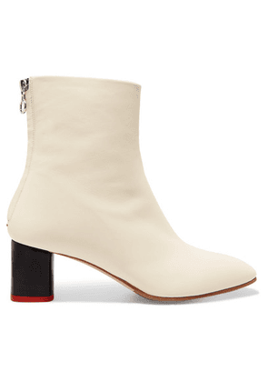 aeyde - Florence Leather Ankle Boots - White
