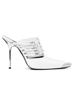 Alexander Wang - Minna Metal-trimmed Mules - White