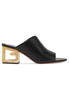 Givenchy - Triangle Leather Mules - Black