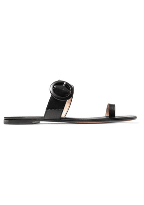 Gianvito Rossi - Buckled Leather Sandals - Black