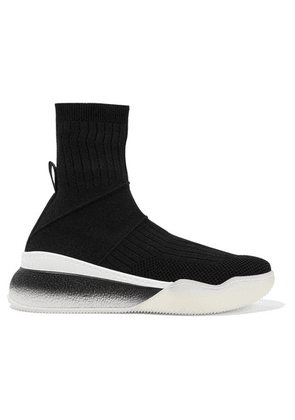 Stella McCartney - Stretch-knit Sneakers - Black