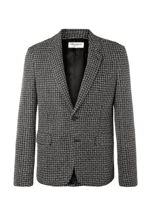 Saint Laurent - Silver Slim-fit Woven Blazer - Silver