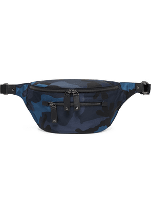 Valentino - Camouflage-print Nylon Belt Bag - Navy