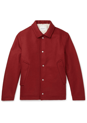 Albam - Fleece-lined Wool, Nylon And Cashmere-blend Jacket - Red